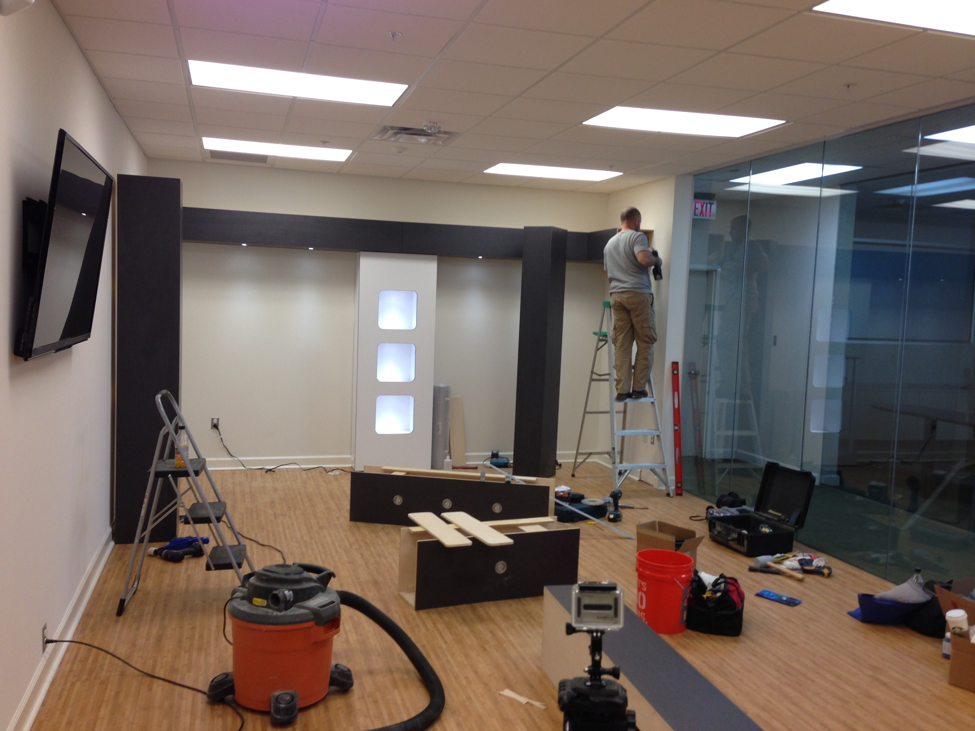 Showroom Installation in Progress...